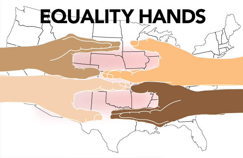 Free Friday Equality Hands Graphic